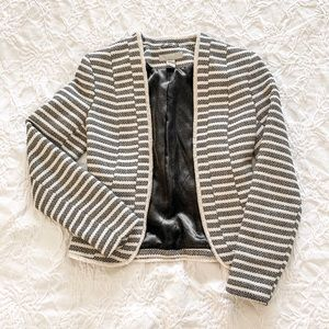 chanel—style striped blazer
